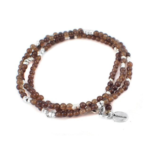 【現貨商品】【CHAN LUU】兩用民族風棕色串珠項鍊(CL-NSM-1190SlvBrnJd  0663340000) 0