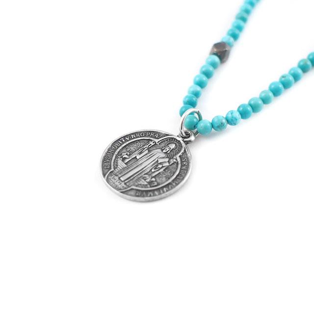【現貨商品】【CHAN LUU】土耳其石民族風純銀吊牌項鍊 (CL-NSM-1191GmTq  0657540000) 0
