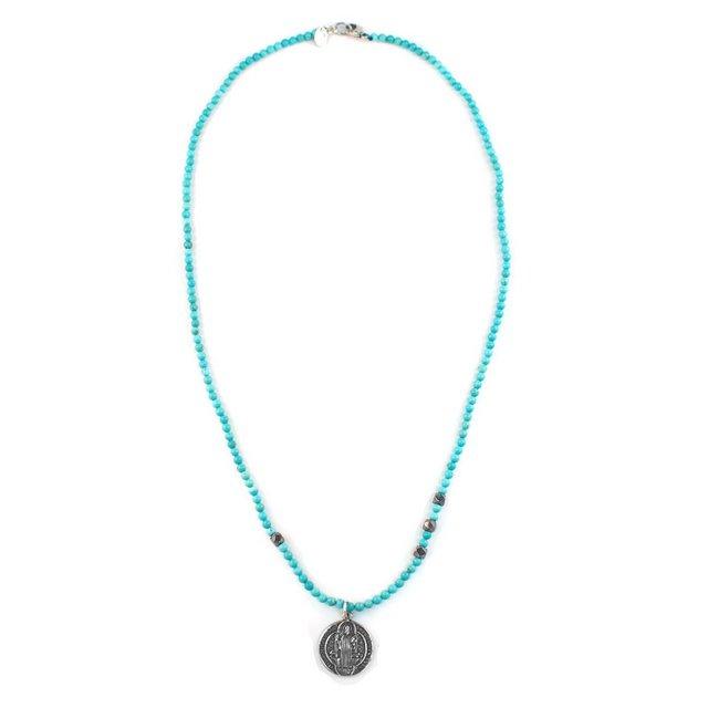 【現貨商品】【CHAN LUU】土耳其石民族風純銀吊牌項鍊 (CL-NSM-1191GmTq  0657540000) 1