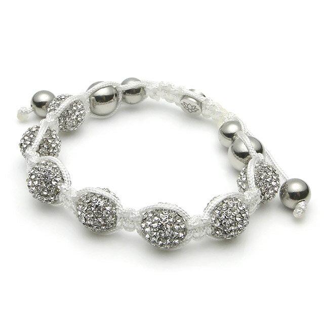 【現貨商品】【KAPARA】不銹鋼白水晶串珠手鍊 (KB-K041-White 0599270205) 0