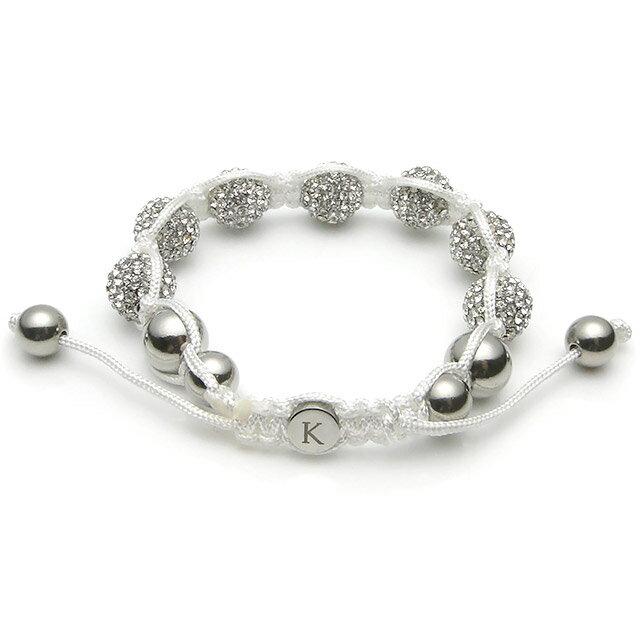 【現貨商品】【KAPARA】不銹鋼白水晶串珠手鍊 (KB-K041-White 0599270205) 1