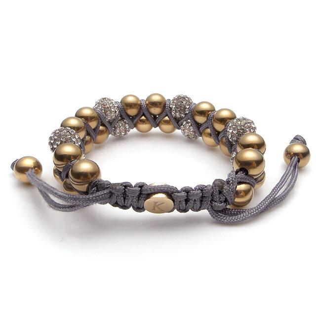 【現貨商品】【KAPARA】玫瑰金不銹鋼白晶雙層灰色串珠手鍊(KB-K159 0600300200) 1