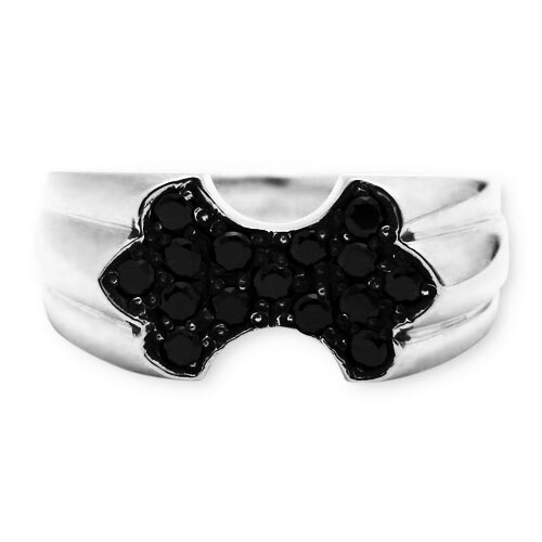 獨家現貨【Gengrail】Deep Forest 黑鑽鑲嵌純銀戒指 (GER001) 1
