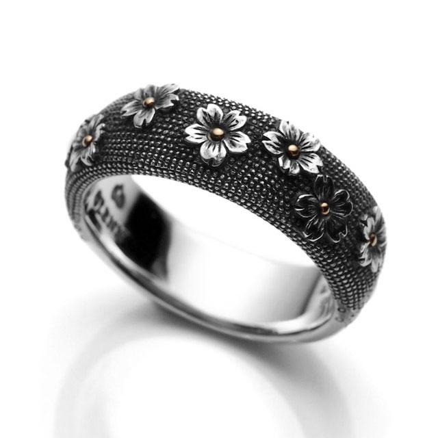 【海外訂購】【GLENN】櫻花魚子純銀戒指(GL-0028) 0