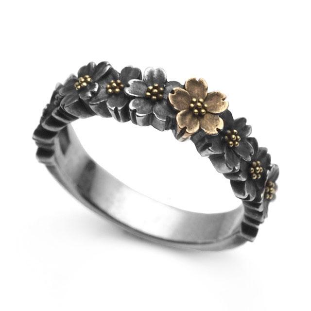 【海外訂購】【GLENN】櫻花環純銀戒指(GL-0080) 0