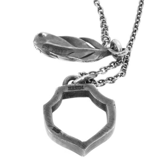 網路獨家【HARIM】羽毛&守護之盾純銀項鍊 (HRP078) 2