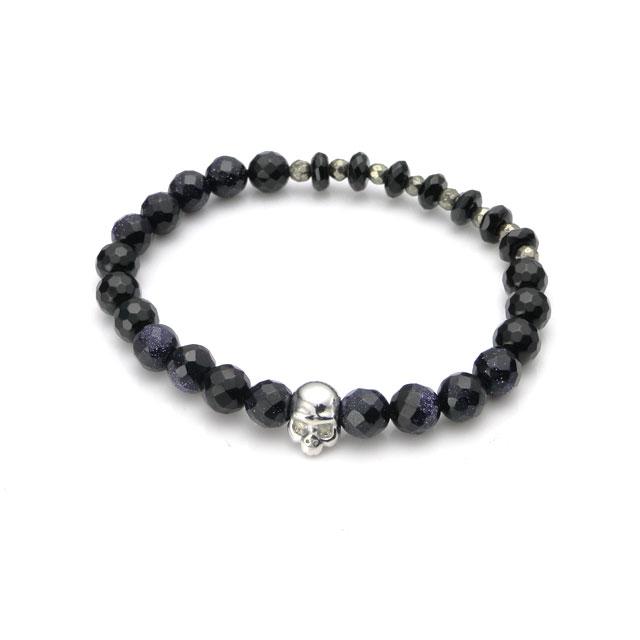 【海外訂購】【KONRON】Baby Skull 繽紛寶石骷髏珠珠手鍊(KRBCB1316-Blsdmix  0640760000) 0