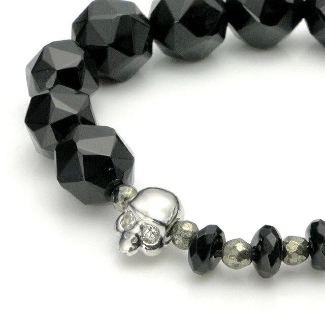 【海外訂購】【KONRON】Baby Skull 繽紛寶石瑪瑙骷髏珠珠手鍊(KRBCB1316-Omix  0640810000) 4