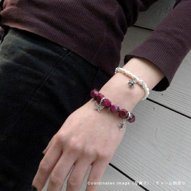 【海外訂購】【KONRON】寶石骷髏粉紅色虎眼石手環(KRBCB1316-Ptemix  0640820000) 4