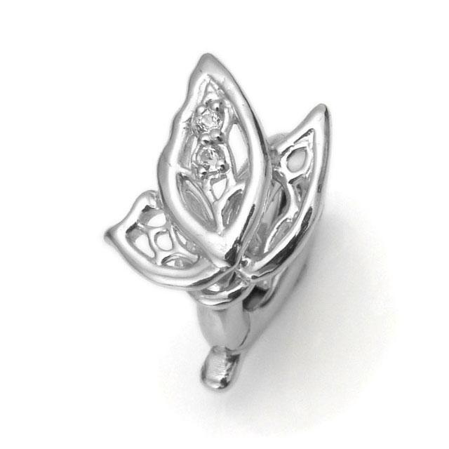 【海外訂購】【KONRON】mini 蝴蝶白色托帕石純銀墜飾(KRBCC1304-Wt  0640900000) 0