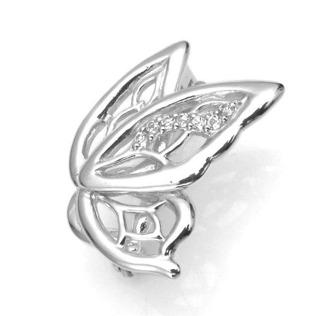 【海外訂購】【KONRON】蝴蝶白色托帕石純銀墜飾(KRBCC1305-Wt  0640910000) 0