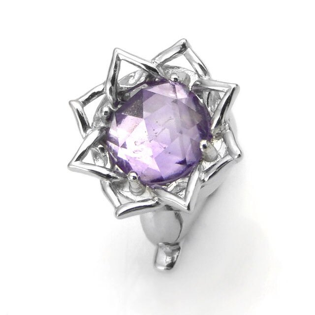 【海外訂購】【KONRON】蓮花紫水晶純銀墜飾(KRBCC1309-Arc  0640980000) 0