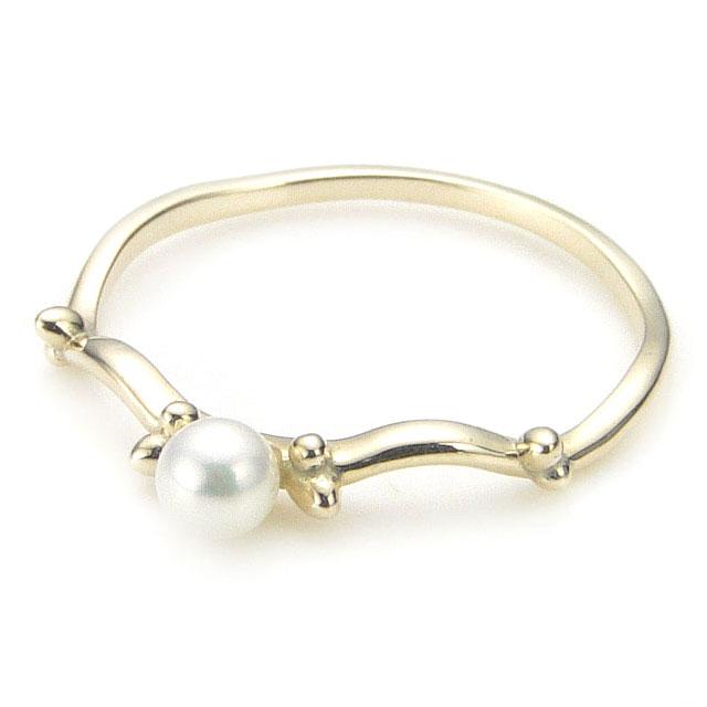 【海外訂購】【KONRON】瑪哈陵系列 女神珍珠K金指節戒指(KRBCR0001-k10-P) 0