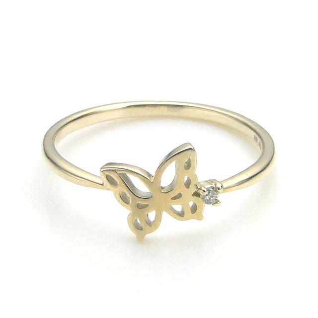 【海外訂購】【KONRON】楊貴妃系列 迷蝶鑲鑽K金指節戒指(KRBCR0003-k10-D) 0