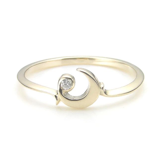 【海外訂購】【KONRON】杜蘭朵系列 月之護符鑲鑽K金指節戒指(KRBCR0006-k10-D) 0