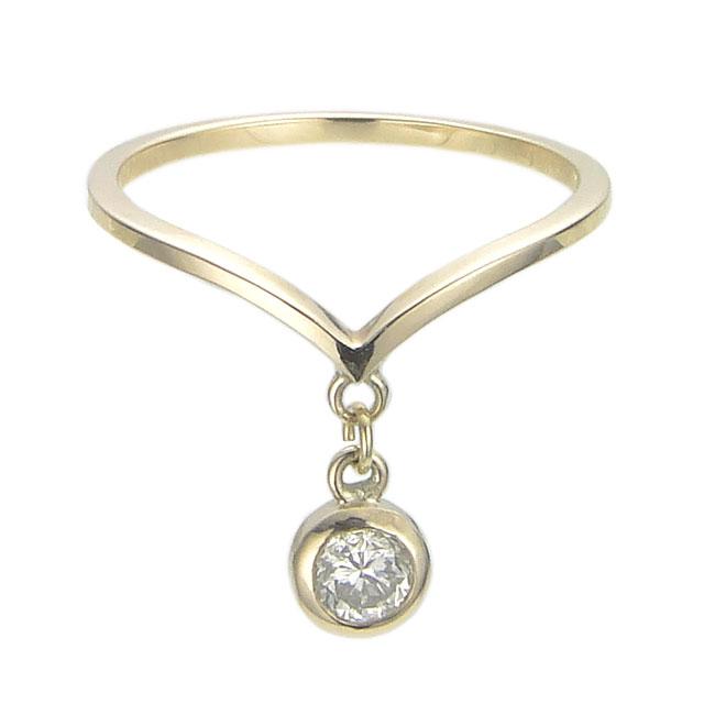 【海外訂購】【KONRON】瑪哈陵系列 女王垂吊鑽石K金指節戒指(KRBCR0008-k10-D) 0