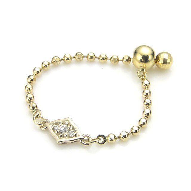 【海外訂購】【KONRON】瑪哈陵系列 女王鑲鑽K金鍊型指節戒指(KRBCR0011-k10-D) 0