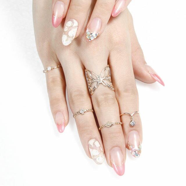 【海外訂購】【KONRON】瑪哈陵系列 女王鑲鑽K金鍊型指節戒指(KRBCR0011-k10-D) 5