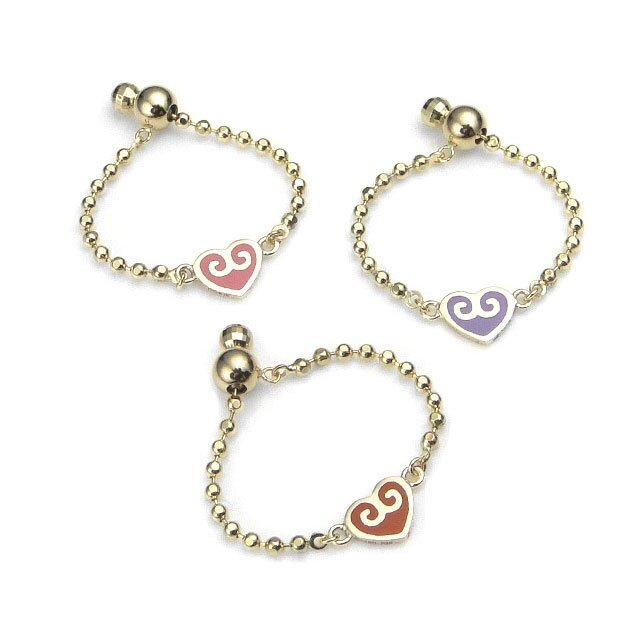【海外訂購】【KONRON】杜蘭朵系列 愛心K金鍊型指節戒指-紫(KRBCR0013A-K10-Purple) 3