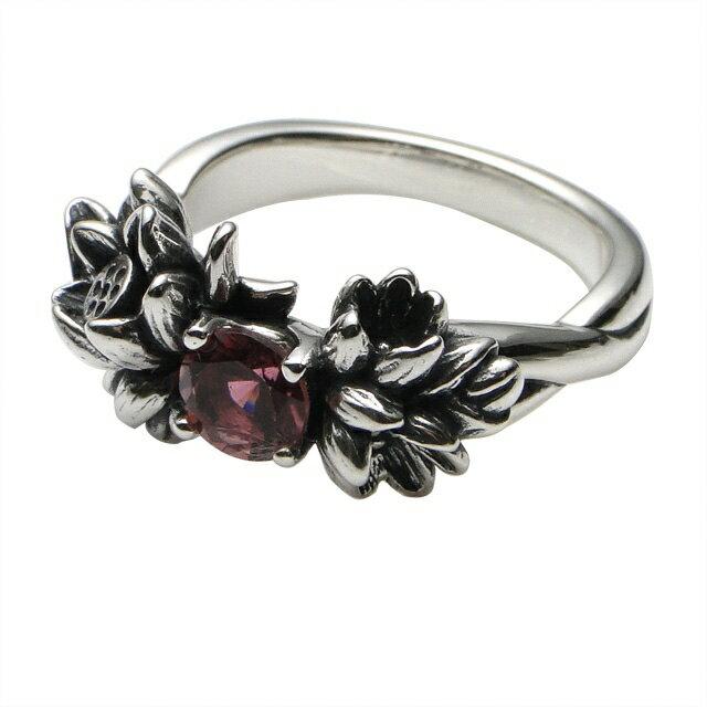 【海外訂購】【KONRON】花中粉色碧璽寶石純銀戒指(KRBCR1073-Ptr) 2