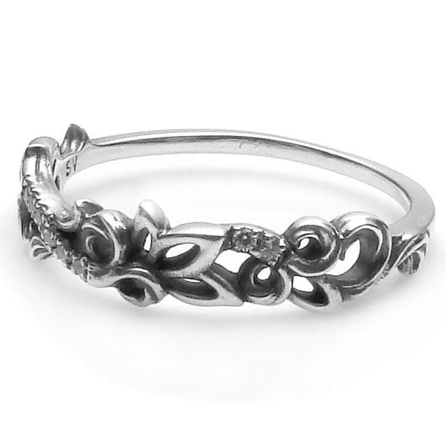 【海外訂購】【KONRON】花樣圖騰純銀戒指(KRBCR1094-Cz) 0
