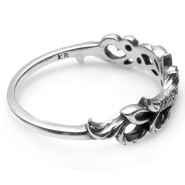 【海外訂購】【KONRON】花樣圖騰純銀戒指(KRBCR1094-Cz) 1