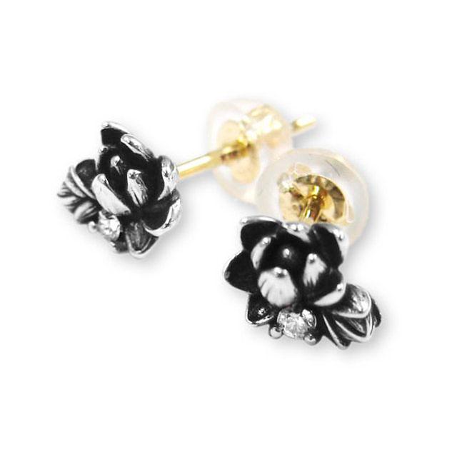 【海外訂購】【KONRON】初生蓮花鑽石純銀耳環(KRE0551-D  0263950000) 0