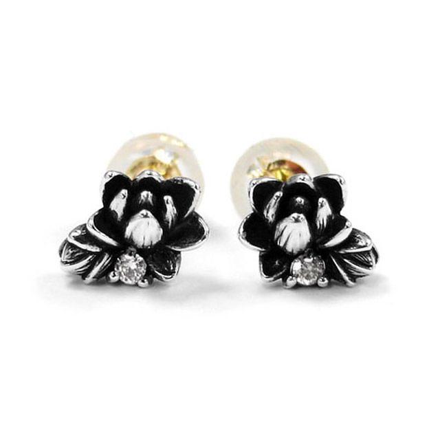 【海外訂購】【KONRON】初生蓮花鑽石純銀耳環(KRE0551-D  0263950000) 1