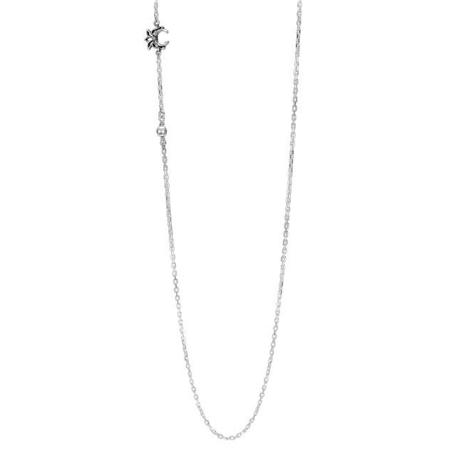 【現貨商品】【KONRON】蓮花寶石設計款純銀項鍊(KRN1170  0595420000) 0