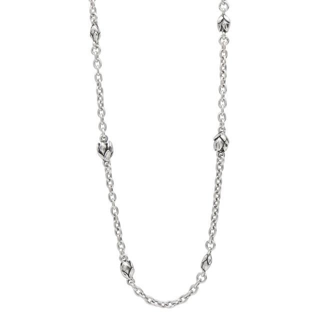 【海外訂購】【KONRON】初生花苞設計款純銀項鍊50cm (KRN0556-3  048400B500) 0
