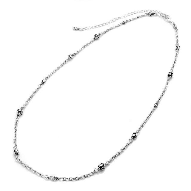 【海外訂購】【KONRON】初生花苞設計款純銀項鍊50cm (KRN0556-3  048400B500) 1