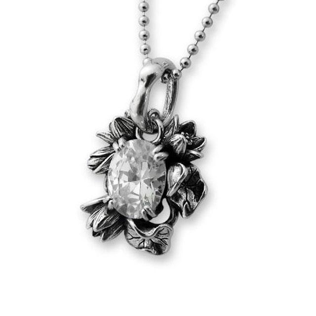 【海外訂購】【KONRON】花團錦簇白鑽純銀墜飾(KRP0451-Cz-Clear  02276100Q8) 0