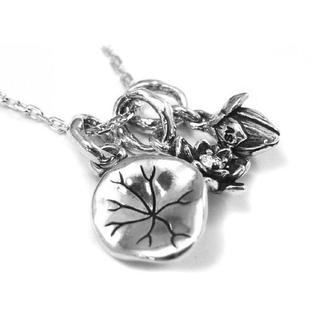 【海外訂購】【KONRON】寶石露水蓮花鑽石純銀項鍊(KRP0549-D  0263910000) 1