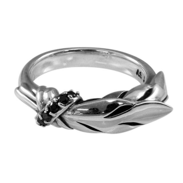 【海外訂購】【KONRON】閃耀羽毛寶石純銀戒指(KRR0358-Cz) 0