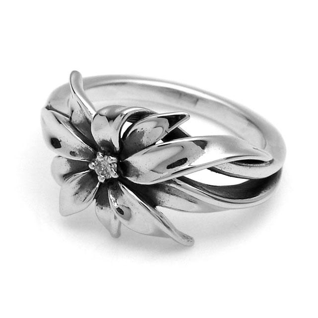 【海外訂購】【KONRON】小確幸花開純銀戒指 (KRR0779-D) 0
