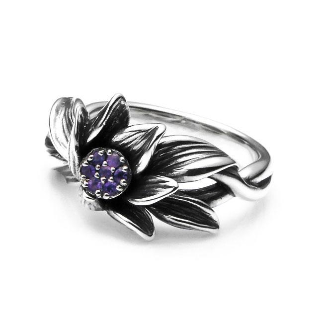 【海外訂購】【KONRON】微風吹拂紫水晶純銀戒指(KRBCR1063-A) 0