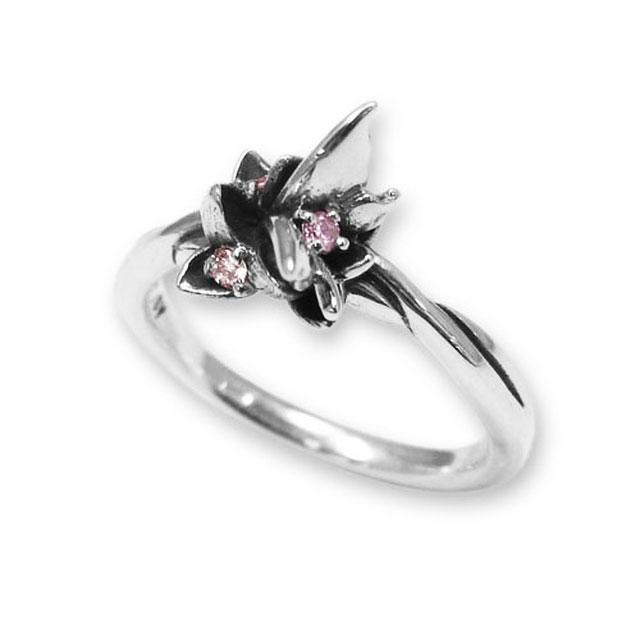 【海外訂購】【KONRON】花之回憶粉鑽純銀戒指(KRR0544-Pd) 0