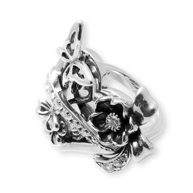 【現貨商品】【KONRON】華麗舞台歌劇寶石純銀戒指(KRR0635-Cz) 1