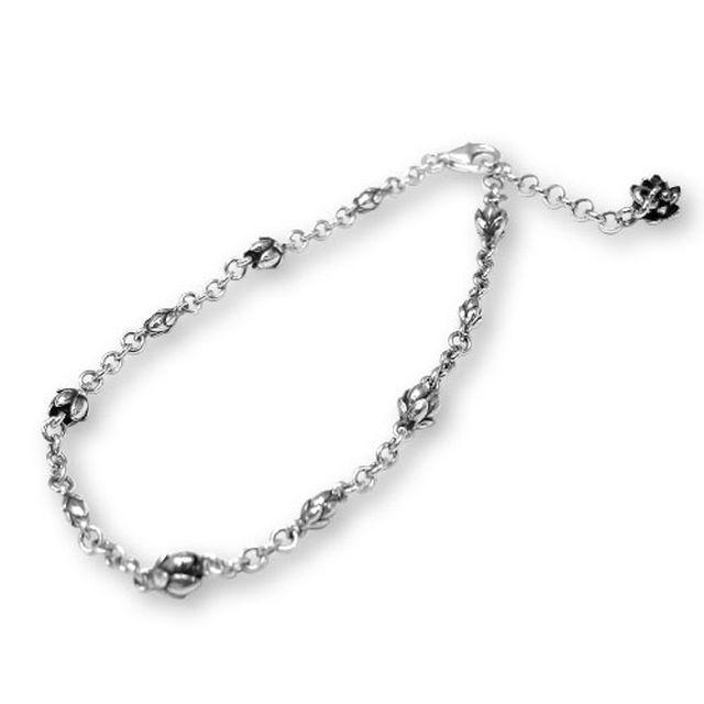 【海外訂購】【KONRON】甜美喜悅花朵純銀手鍊 19cm (KRB0554  026401D200) 0