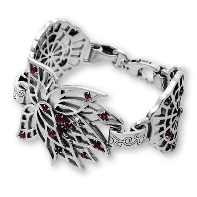 【海外訂購】【KONRON】永遠的蓮紅寶石純銀手鍊 S (KRB0656s-r  0329240200) 0