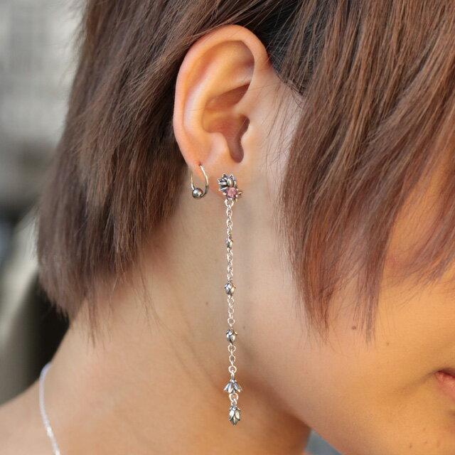 【海外訂購】【KONRON】迎風蓮花托帕石純銀耳環(KRBCE1069-Wt  0552070000) 4