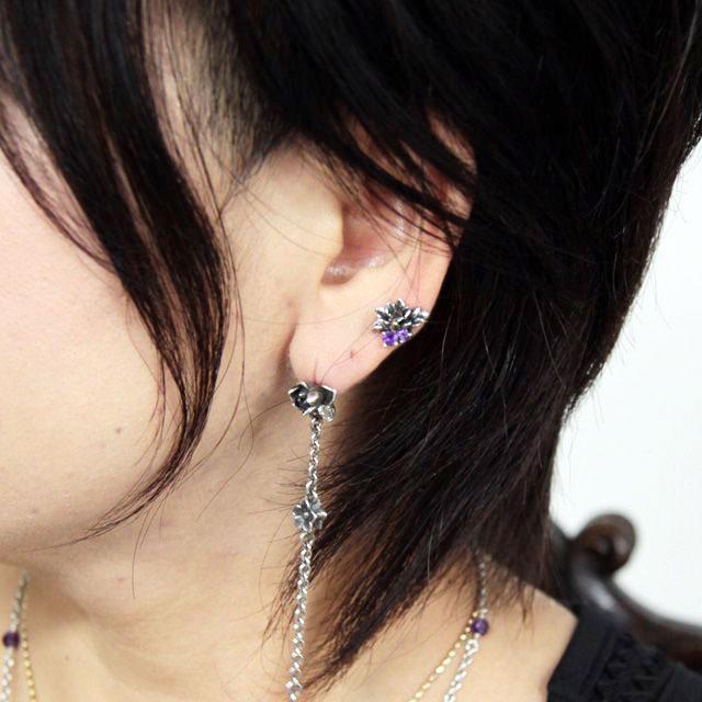 【海外訂購】【KONRON】花開藍托帕石純銀耳環(KRBCE1076-BtLbt  0592020000) 3