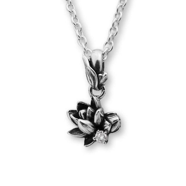 【海外訂購】【KONRON】甜美公主花開鑽石純銀項鍊 (KRP0547-d  0263870000) 0
