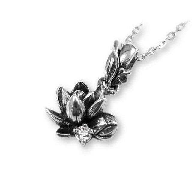 【海外訂購】【KONRON】甜美公主花開鑽石純銀項鍊 (KRP0547-d  0263870000) 1
