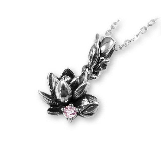 【現貨商品】【KONRON】甜美公主花開粉鑽純銀項鍊(KRP0547-pd  0263880000) 1