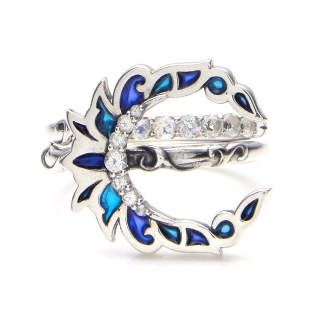 【現貨商品】【KONRON】新月許願寶石純銀戒指 (KRBCR1027) 1