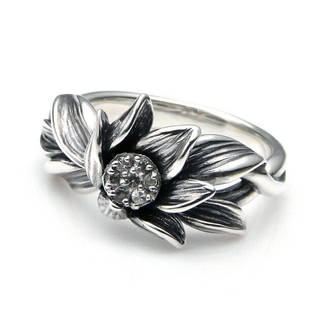 【海外訂購】【KONRON】微風吹拂寶石純銀戒指 (KRBCR1063-Wt) 0