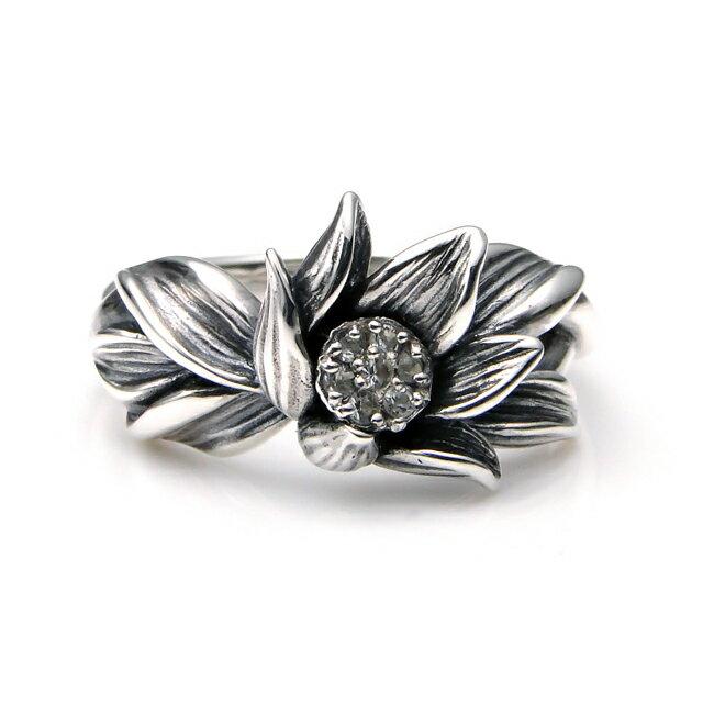 【海外訂購】【KONRON】微風吹拂寶石純銀戒指 (KRBCR1063-Wt) 1
