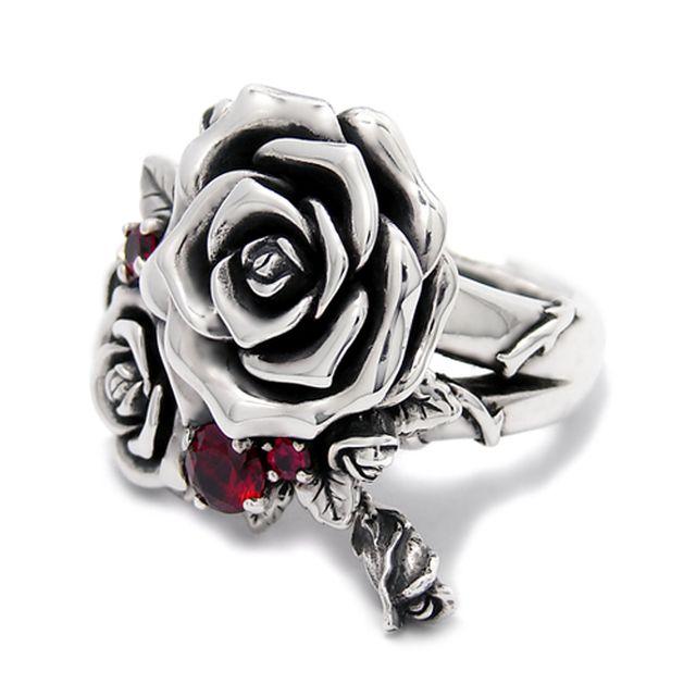 【海外訂購】【KONRON】我愛玫瑰純銀戒指(KRR0714-CZ) 0