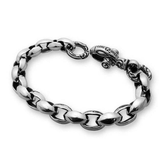 【現貨商品】【LONE ONES】Silk link 極致光絨鎖鏈純銀手鍊 M (LKB001M  0006170000) 0